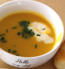 Butternut Squash Soup with Brown Butter (2004) prepared by Mary