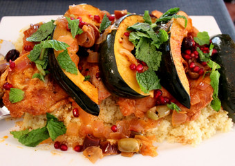 Skillet Roasted Moroccan Chicken and Olive Tagine prepared by Amy