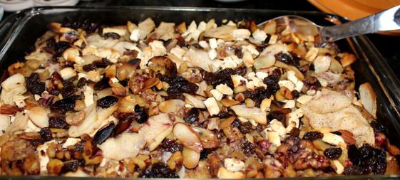 Capirotada (Rum-Spiked Bread Pudding) prepared by Susie