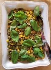 Corn & Snap Bean Succotash with Basil & Jalapeño prepared by Susie
