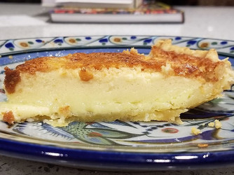 Buttermilk Chess Pie from As Easy As Pie by Susan Purdy prepared by Gayla