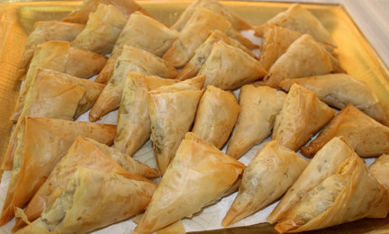 Small Olive Pies (Eliopitakia) from The Greek Vegetarian prepared by Michele