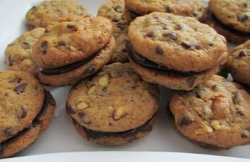 Ganache-stuffed Chocolate Chip Cookies prepared by Michele