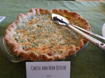 Cheese & Herb Quiche prepared by Gayla
