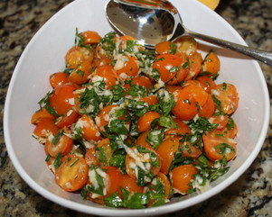Tomato & Horseradish Salad from At My Table prepared by Julia