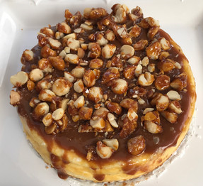 """Caramel and Macadamia Cheesecake from """"Ottolenghi - the Cookbook"""" prepared by Dianne"""