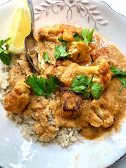 My cauliflower tikka masala from Ultimate Veg prepared by Dianne
