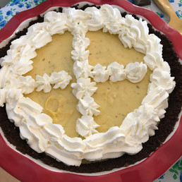 Magic Key Lime Pie (with homemade graham cracker crust and homemade condensed milk!!) prepared by Linda