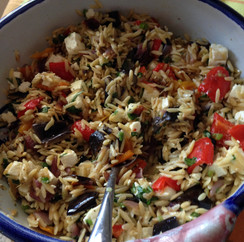 Orzo with Roasted Vegetables prepared by Mary