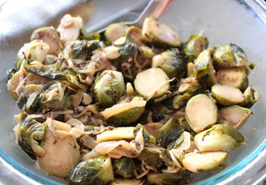 Maple-Caraway Brussels Sprouts prepared by Kim