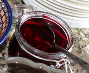 Quick-pickled Beets from Simply Nigella prepared by Gayla