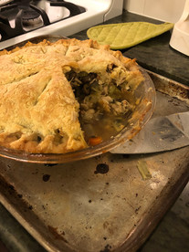 Proper Chicken Pie from Jamie and Jimmy's Friday Night Feast prepared by Becky