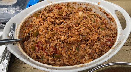 Chicken & Tasso Jambalaya prepared by MaryLou