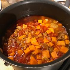 No Bean Turkey & Sweet Potato Chili prepared by Sue