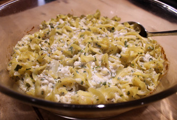 Noodles Romanoff (1980) prepared by Shelley