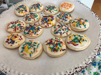 Homemade Lofthouse-Style Cookies with Homemade Sprinkles (!) prepared by Jackie