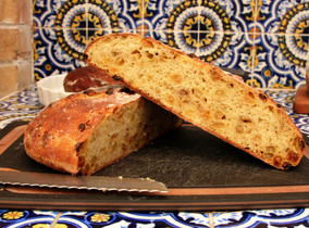 Semolina Bread with Golden Raisins, Fennel Seed & Orange Zest from Tartine Bread prepared by MaryLou