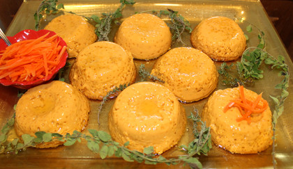 Magic Carrot Flans from Vegetable Heaven prepared by Michele