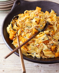 Pappardelle with Butternut & Blue Cheese from Feast prepared by Adele Griffin *photo courtesy of nigella.com*