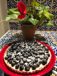 Blueberry Lemon Cream Tart from Gourmet Today prepared by Linda