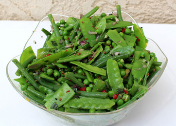 """Green Bean Salad with Mustard Seeds and Tarragon  from """"Plenty"""" prepared by Susie"""