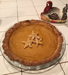 "Sour Cream Pumpkin Pie from Gourmet Today prepared by Maria ""filling prep was more complex than anticipated"""