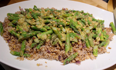Asparagus & Bulgur with Preserved-Lemon Dressing (1999) prepared by Dianne