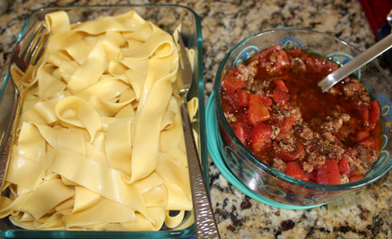 Pappardelle with Lamb Ragù from nigella.com prepared by Kim