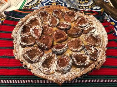 Fig Tart with Orange Flower Custard from Local Flavors by Deborah Madison prepared by Linda