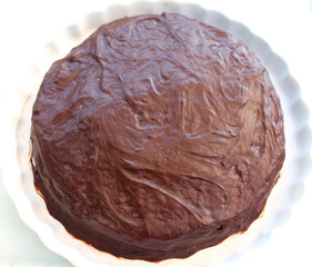 Chocolate-covered Almond Cake prepared by Mary