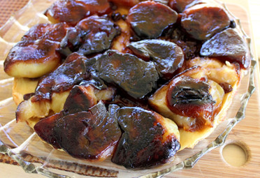 Tarte Tatin with Apples, Raisins, and Rose Water prepared by Sandy