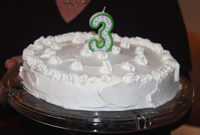 Celebration Cake (Pastel de Tres Leches) from Rick Bayless prepared by MaryLou