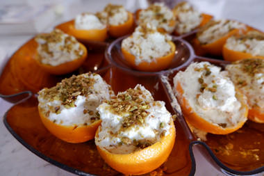 Orange Cream with Chopped Nuts prepared by Linda