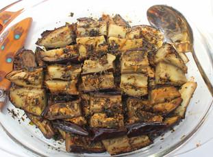 Marinated Eggplants prepared by Jen