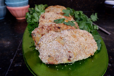 Oven-Baked Kotlet (Meat & Potato Patties) prepared by Gayla