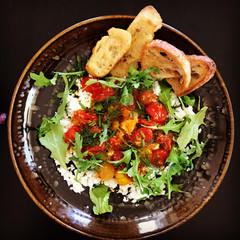 Lemon Feta Dip with Garlic Tomato Vinaigrette prepared by MaryLou