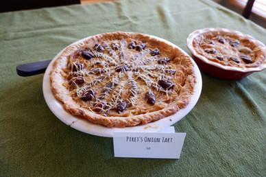 Piret's Onion Tart prepared by Sue