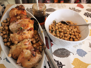 Chicken Tagine with Pumpkin and Chickpeas from A Platter of Figs and Other Recipes prepared by Julia
