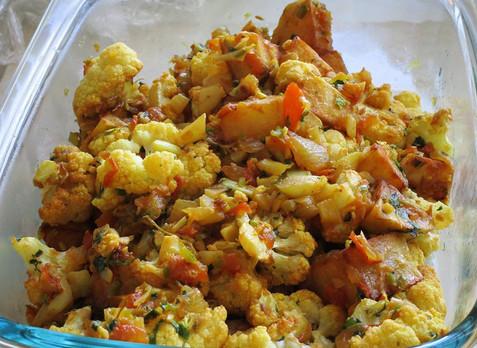 Aloo Gobi (Cauliflower with Potatoes) prepared by Sandy
