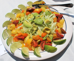 Ensalada de Aguacate (Avocado Salad)  from The Cuban Table prepared by Julia
