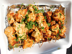 Moroccan Chicken Kabobs prepared by Susie