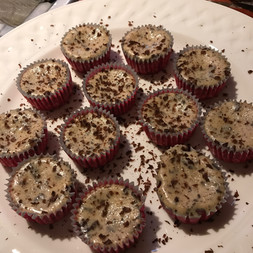 Five-ingredient Chocolate Cheesecake Cups prepared by Becky