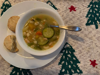 "Richard Olney's Soupe au Pistou from The Gourmet Cookbook prepared by Justine ""delicious, despite rookie error"""