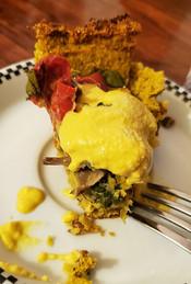 Vegan Quiche with Cauliflower Crust from hookedonplants.ca prepared by Michele