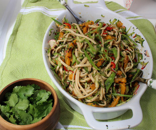 """Butternut Tataki & Udon Noodle Salad from """"Plenty More"""" prepared by Jackie"""