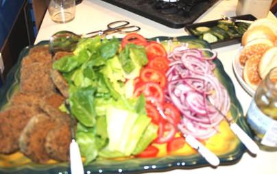 Baked Falafel Burgers prepared by Jackie