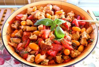 Panzanella prepared by Jackie