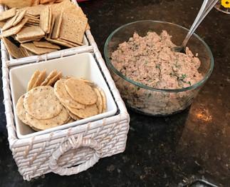 Sardine paté prepared by Debbie