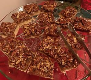 Pecan Bars prepared by Sandy Mackie