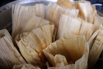 Tamales Cambray (Tamales of Tiny Vegetables) prepared by Jackie
